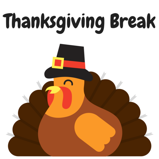 Thanksgiving Holidays from 11/21 to 11/23